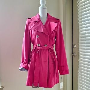 Calvin Klein Pink Belted Trenchoat NWT